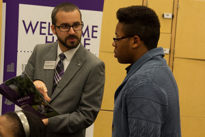 Christoper Mueller of Kansas State University gave potential Wildcats an overview of student life at the school.