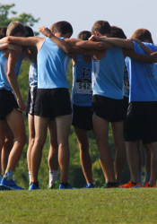 SM East's boys cross country team's training together over the summer paid off, said coach Tricia Beaham.