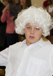 And what would a Colonial Day be without a powdered wig?