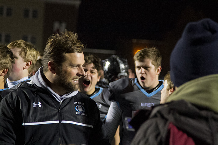 Head coach Dustin Delaney has lead SM East to a 23-2 record and two state championship appearances in his first two years at SM East.