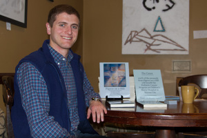 Jonathan Stepp had a book signing for Pigeon on a Hill at Hattie's Coffee in Prairie Village on Saturday.