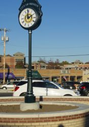 The clock on Rotary Plaza is already a new addition to the streetscape.
