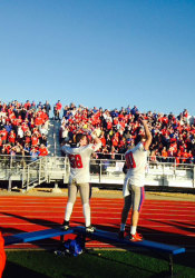 Miege's fans had plenty to cheer for as the Stags won their fifth state title. Photo by Brennan Dial.