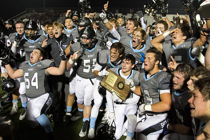 SM East's football team is headed back to the state title game for the second year in a row.
