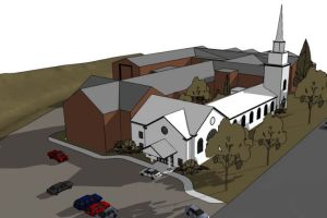A rendering of the new Village Presbyterian Welcome Center.
