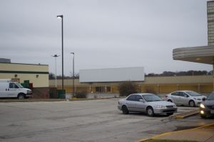 The former Kmart building, which sits at the back of the lot that also houses Winstead's and Krispy Kreme, would be torn down if a plan to build a Menards is successful.