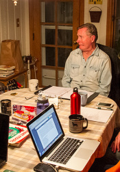 """Kelly Werts (from left), Robert Brand, David Martin and Valerie Martin went through a final rehearsal of """"A Prairie Village Christmas Companion"""" at the home of Jeanne Murphy on Sunday."""