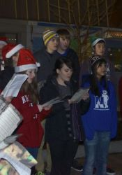 The SM North choir also entertained the crowd.