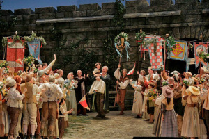 A scene from Die Meistersinger von Nurnberg. Photo via The Met's Facebook page.