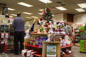 Tiffany Town at the Village Shops is packed with gift displays in the days leading up to Christmas.