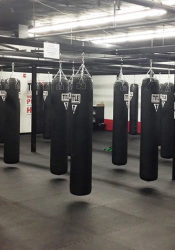 All-new boxing bags are among the renovations at the Prairie Village Title Boxing Club.