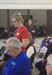 A long line of speakers Monday generally supported removing the breed specific ban from the Roeland Park animal control ordinance.