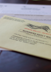 Ballots began arriving in the mail on Wednesday.