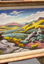 """Utah Highlands"" was painted in 1954 by Thomas Hart Benton"