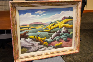 The landscape was painted in 1954 by Thomas Hart Benton, and publicly displayed at SM North from 1957 to 2008.