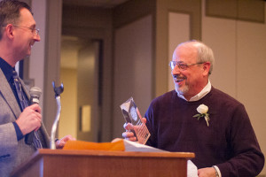 Prairie Village Police Chief Wes Jordan was among the community leaders to thank  former Prairie Village Mayor Ron Shaffer for his service to the city Wednesday.