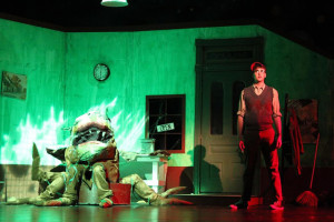 Austin Dalgleish as Seymour in SM East's production of Little Shop of Horrors.  Photo courtesy Joni Cobb.