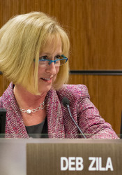 Shawnee Mission Board of Education President Deb Zila defended the decision to send the entire board to the NSBA conference as an important professional development opportunity.