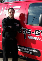 Tim Marshall's GYMGUYZ service will bring a personal trainer to you wherever you are.