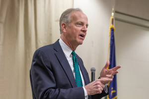 "Jerry Moran told a crowd in Mission that a ""FairTax"" system that repealed income taxes would be a better way to fund the government."