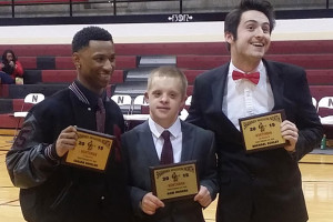 2015 Northman Sam Rogers (C) is flanked by runners-up Isaiah Shields (L) and Michael Schley.
