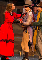 Senior Erin Khelm as Nancy lets members of Fagin's Gang know that it's a fine life.