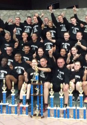 The SM North NJROTC drill team celebrated its regional victory in New Mexico.