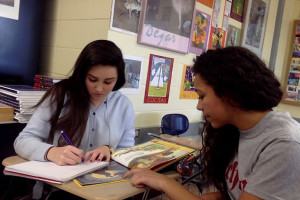 SM East students work on translating children's books into French