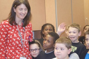 Kari Bowles and her students at Roesland Elementary were surprised with a grant presentation Wednesday,