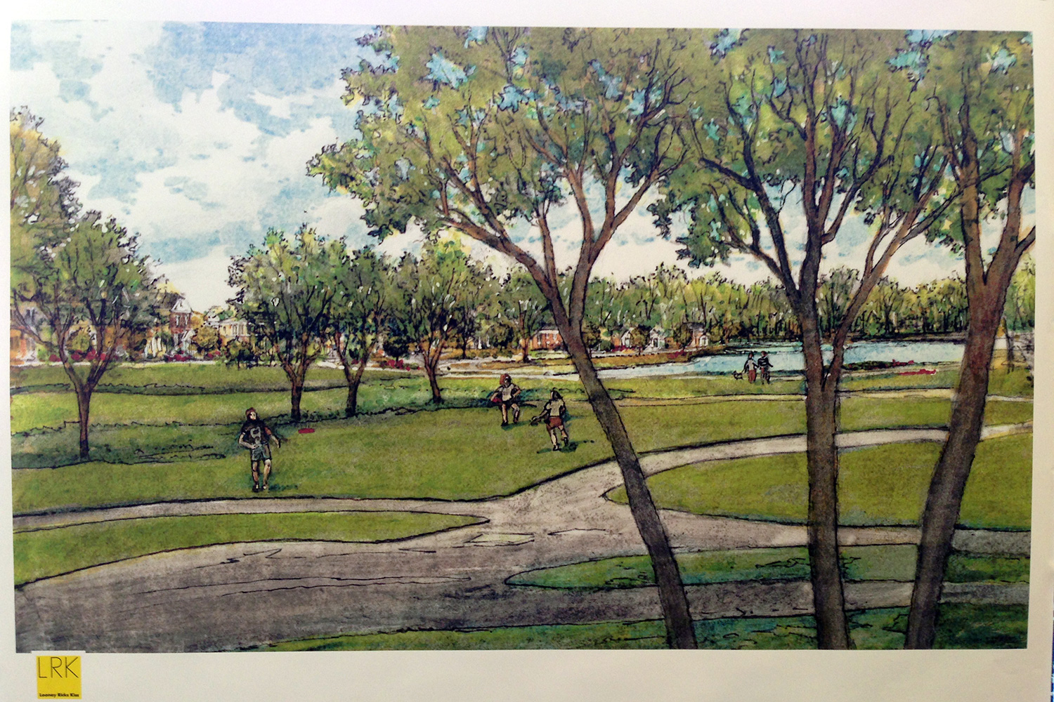 A rendering of the proposed park on the Meadowbrook property.