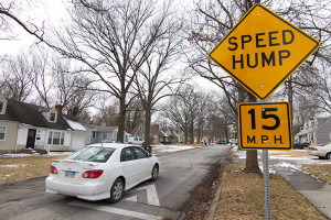 This speed table on 70th Terrace in Prairie Village was the result of a neighborhood process under the city's traffic calming program.