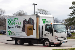 Among the vehicles on display at the Prairie Village Earth Fair last weekend was the new Prairie Village Textile Recycling program truck.