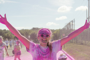 Color runs, like this one in St. Cloud Minnesota, have become popular community events across the country.