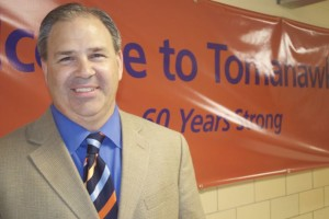 Tomahawk Principal David Conrady welcomed current and former students, parents and faculty to Tomahawk for the 60th asnniversary celebration Thursday evening.