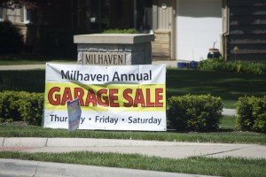 The Milhaven neighborhood in Mission is just one place you can find bargains among the city-wide garage sales this weekend.