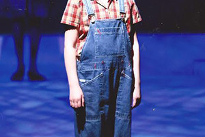 Margaret Veglahn as Scout in the production of To Kill a Mockingbird.