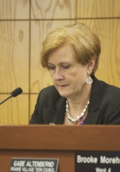 Sheila Myers took her seat on the Prairie Village City Council Monday.