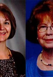 Corinth teachers Ginger Wendt, left, and Carolyn Sine are retiring after decades spent as educators.