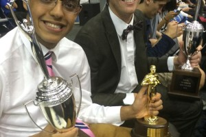 Ali Dastjeri (left) and Henry Walter became the first national debate champions ever from Kansas over the weekend.