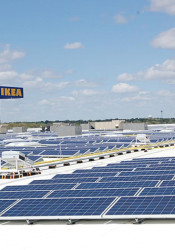 The Merriam IKEA is now how to the largest functioning rooftop solar panel array in the state. Photo courtesy IKEA Merriam.