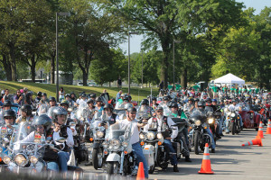 Mission City Councilor Pat Quinn helps organize the annual KC Thunder Ride. Photo via Thunder Ride website.