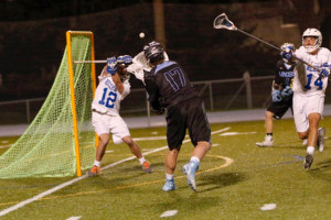 SM East faces rival Rockhurst in the Lacrosse Association of Kansas City semi-finals tonight. Photo courtesy Tom Strongman