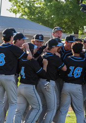 The Lancers had plenty to celebrate after the 21st out.