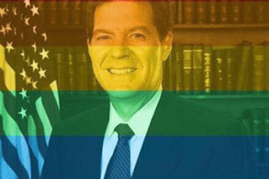 Marriage equality supporters were quick to pounce on Gov. Brownback after his comments following the Supreme Court ruling, with some creating satirical visuals like the photo above.