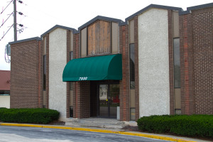 The State Line Road office building south of Panda Express in Prairie Village would become a Chicken Slims restaurant if the city's Planning Commission and City Council approve a rezoning application.