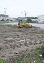 The lot owned by the city has now been cleared of the Neff building.