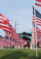 Merriam's Flags 4 Freedom is back for its 10th year. More than 1,300 flags will be placed in the downtown area starting Saturday morning.