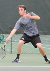 Erik Anderson of Omaha competing in the US Open National Playoffs Missouri Valley Sectional Qualifying tournament at Homestead in 2015.