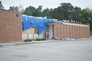 Demolition work has been completed on the interior of Mission Bowl and the reconstruction is about ready to begin.