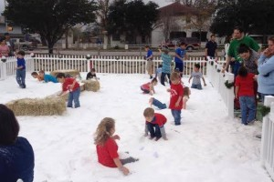 A SnoWonder play area at a community event in Texas.